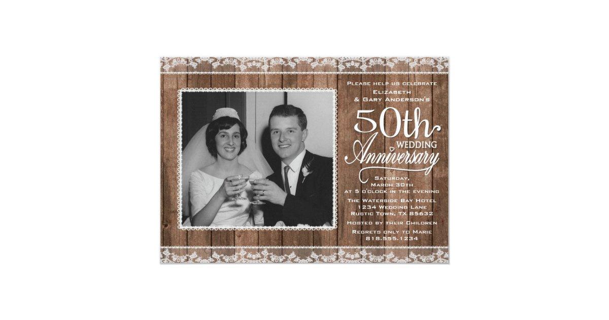 50th Wedding Anniversary Invitations | Zazzle