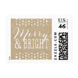 Rustic White Snow Holiday Stamp