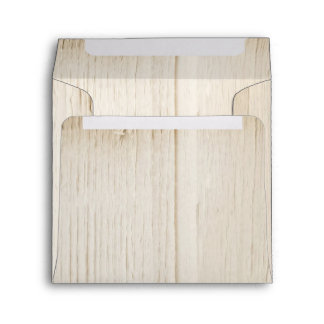 rustic white wood envelopes square