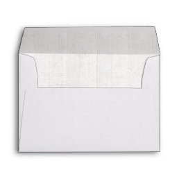 Rustic White Wood Wedding Invitation Envelope