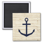 Rustic White Wood with Anchor Fridge Magnets