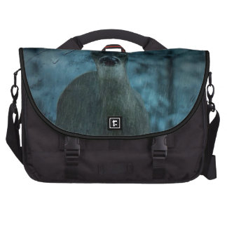 rustic whitetail deer in the rain commuter bags