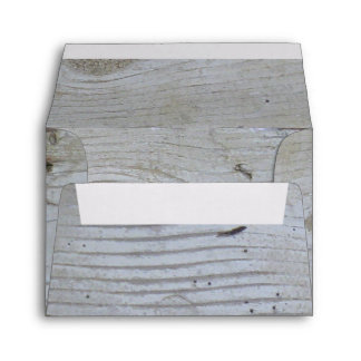 Rustic Whitewashed Board A2 Envelope
