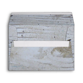 Rustic Whitewashed Board A7 Envelopes