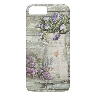 rustic whitewashed wood farmhouse lavender iPhone 8 plus/7 plus case