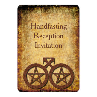 Rustic Wiccan Gay Handfasting Reception Invitation