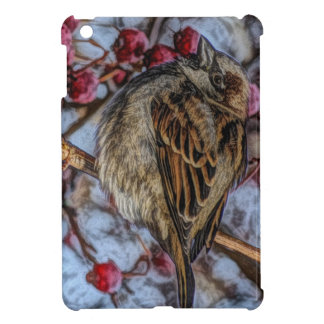 Rustic wild bird with winter berries iPad mini covers
