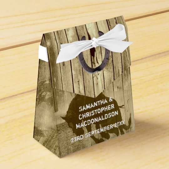 Rustic Wild West Cowboy Country Wedding Favor Box Zazzle