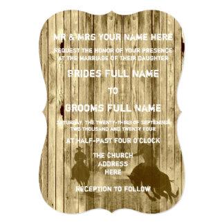 Rustic wild west western style cowboy wedding card