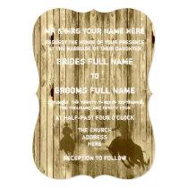 Rustic wild west western style cowboy wedding invitation