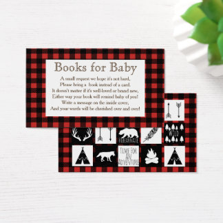 Rustic Wilderness & Animals Buffalo Check Plaid Business Card