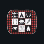 """Rustic Wilderness Animals &amp; Buffalo Check Plaid Candy Tin<br><div class=""""desc"""">Rustic and bold wilderness animals and buffalo check plaid baby shower candy tins.</div>"""