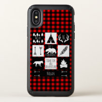 Rustic Wilderness & Animals Buffalo Check Plaid Speck iPhone X Case