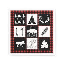 Rustic Wilderness & Animals Lumberjack Plaid Napkin