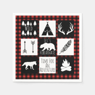 Rustic Wilderness & Animals Lumberjack Plaid Napkin