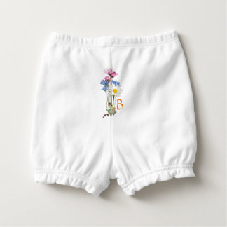 Rustic Wildflower Nosegay Personalized Diaper Cover