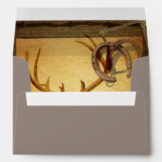 rustic wildlife vintage barn wood hunter deer envelope