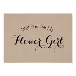 Rustic Will You Be My Flower Girl Proposal Card