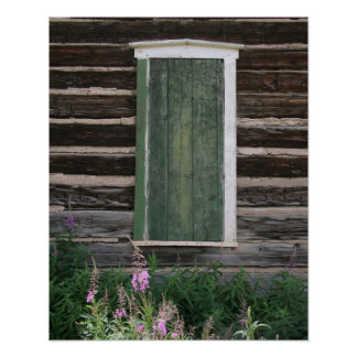 Rustic Window 16x20 Poster