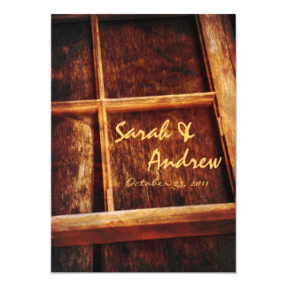 Rustic Window Frame Wedding Invitation