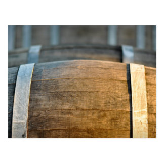 Rustic Wine Barrels Postcard