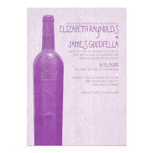 Rustic Wine Bottle Wedding Invitations