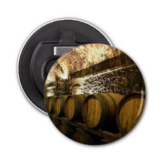 Rustic Wine Cellar in Brown Tones Bottle Opener
