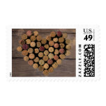 Rustic Wine Cork Heart Stamp