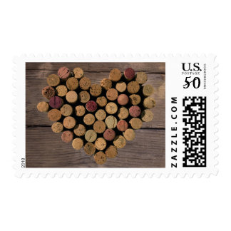 Rustic Wine Cork Heart Stamp