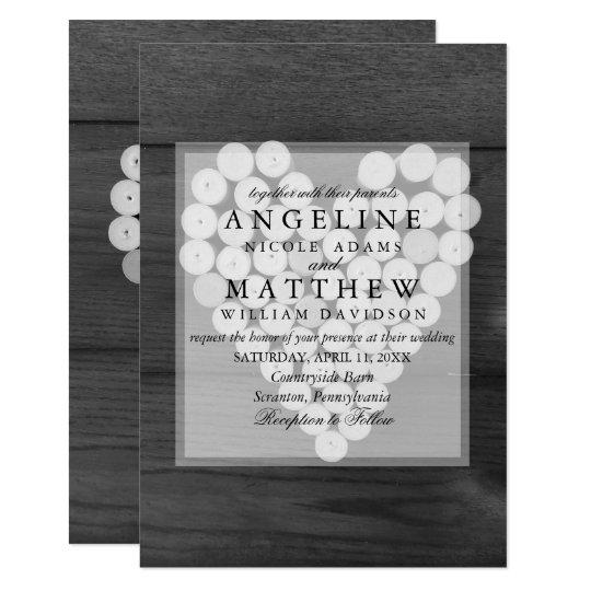 Cork Wedding Invitations: Rustic Wine Cork Heart Vineyard Wedding Invitation