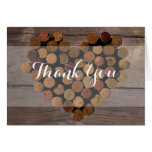 Rustic Wine Cork Thank You Notes Stationery Note Card