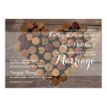 Rustic Wine Cork Wedding Invitation