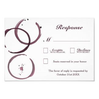 Rustic Wine Stain Vineyard Wedding RSVP Cards
