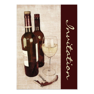 "Rustic wine tasting invite 5"" x 7"" invitation card"