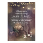 Rustic Winery Lights Wine Tasting Bridal Shower Card at Zazzle