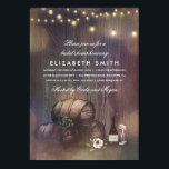 """Rustic Winery Lights Wine Tasting Bridal Shower Card<br><div class=""""desc"""">Wine tasting  or rustic winery bridal shower invitations with wine bottle,  grapes,  barrels and string lights</div>"""