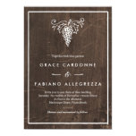 Rustic Winery Wedding 5x7 Paper Invitation Card
