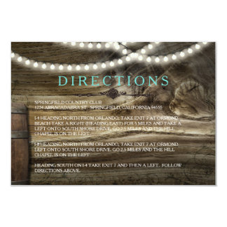 Rustic Winery Wedding Directions Card