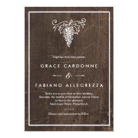 Rustic Winery Wedding Invitation