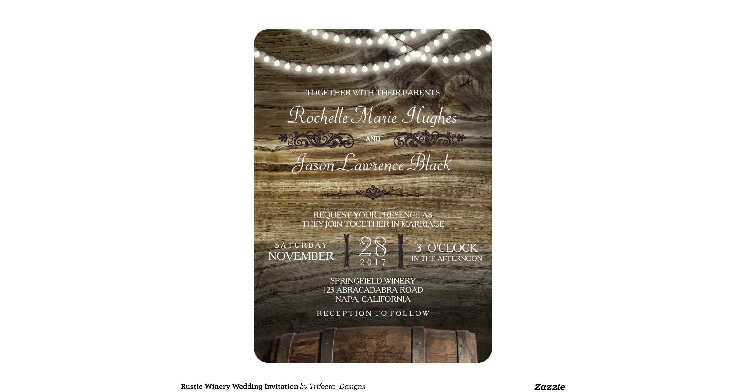 rustic winery wedding invitations - 28 images - rustic vineyard ...