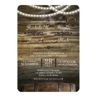 rustic winery wedding invitation - Winery Wedding Invitations