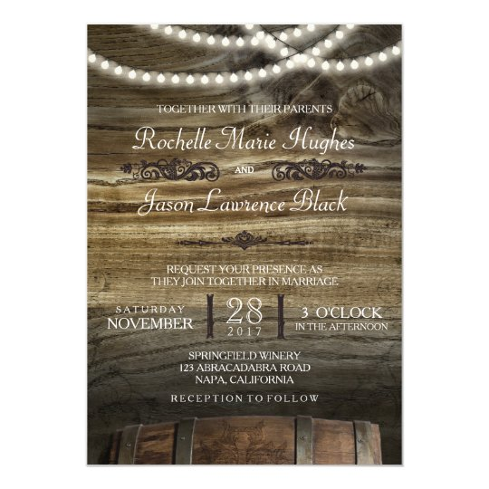 Winery Wedding Invitations: Rustic Winery Wedding Invitation