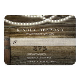 Rustic Winery Wedding RSVP Card