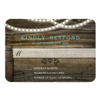 Rustic Winery Wedding RSVP Card