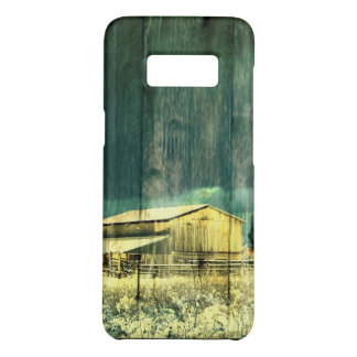 Rustic winter evergreen old barnwood cottage cabin Case-Mate samsung galaxy s8 case
