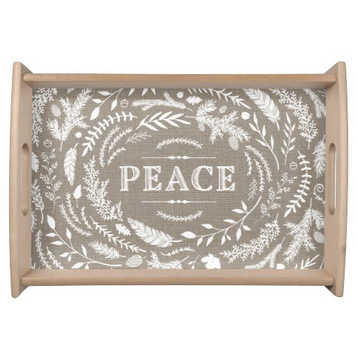 Rustic Winter Serving Tray