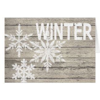 Rustic Winter Snowflakes Card