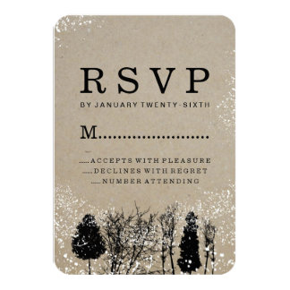RUSTIC WINTER TREE RSVP CARDS