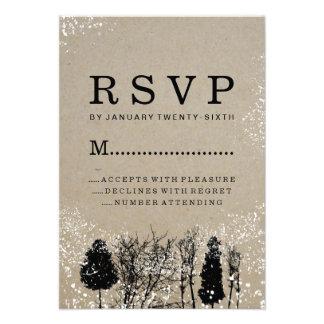 RUSTIC WINTER TREE RSVP CARDS
