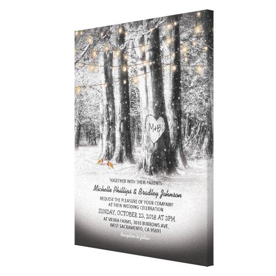 Custom Wedding Accessories Savannah Live Oak Thumbprint: Family Fingerprint Tree Canvas Print